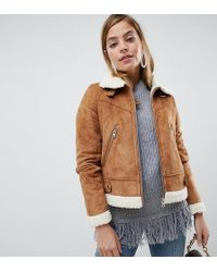 Vero Moda - Short Borg Jacket - Lyst