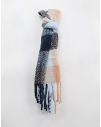 Glamorous Exclusive Oversized Scarf - Blue