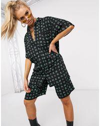 Motel Рубашка С Принтом Китайских Иероглифов От Комплекта -черный