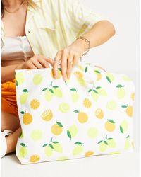 Accessorize Bolso shopper con estampado - Amarillo