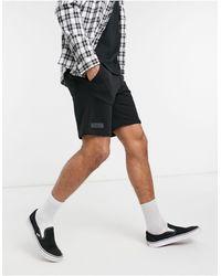 Bershka Jersey Shorts - Black