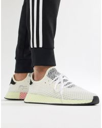 info for 281c1 91b6e adidas Originals - Deerupt Runner Trainers In White Cq2629 - Lyst