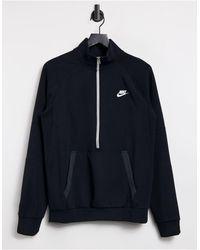 Nike Черный Свитшот С Молнией До Середины Modern Essentials-черный Цвет