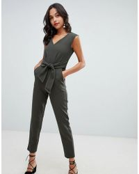 Closet - Tailored Jumpsuit With Tie Waist - Lyst