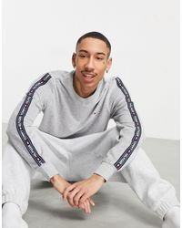 Tommy Hilfiger Velour Lounge Sweatshirt - Grey