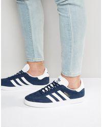 adidas Originals Gazelle BB5478 - Baskets - Bleu marine - Orange