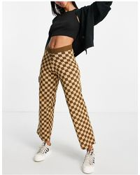 Daisy Street Relaxed Wide Leg Trousers - Brown
