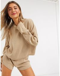 In The Style X Lorna Luxe Lola Knitted Sweater Co-ord - Natural