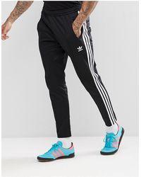 adidas Originals Брюки Из Смешанного Хлопка - Черный