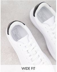 Truffle Collection Wide Fit Chunky Sole Trainers - White