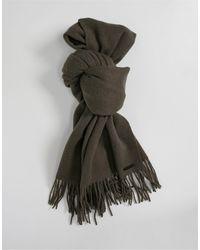 AllSaints All Saints Heavy Wool Blanket Scarf - Green
