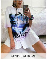 Jaded London Oversized-футболка От Комплекта С Принтом Дельфинов -белый