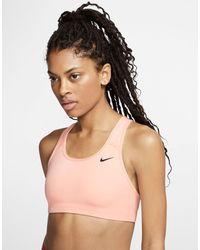 Nike - Розовый Бюстгальтер С Логотипом-галочкой - Lyst