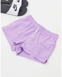 ASOS Фиолетовые Короткие Шорты Для Плавания - Пурпурный