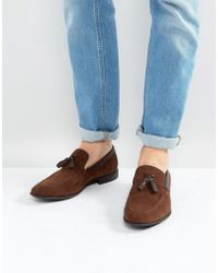 ASOS - Loafers In Brown Faux Suede With Tassel - Lyst