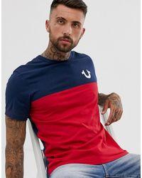 True Religion Camiseta colour block en azul marino Americana