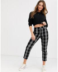 Hollister Pantalon chino skinny à carreaux - Noir
