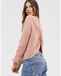 Hollister Reversable Knit Sweater - Pink