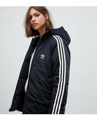 974c6dfa28a5 adidas Originals - Three Stripe Reversible Coat In Black - Lyst