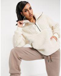 Varley Appleton Half-zip Sherpa Fleece - Natural