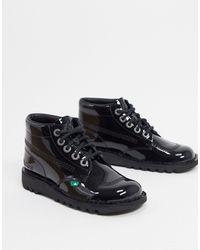 Kickers Kick Hi Flat Ankle Boots - Black