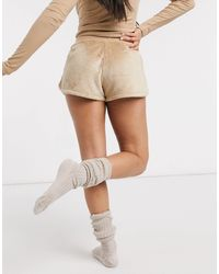 Lindex Short confort en polaire - Beige - Neutre