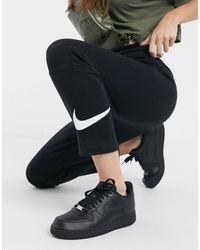 Nike Черные Узкие Джоггеры С Логотипом-галочкой -черный