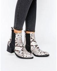 Vero Moda - Snake Boot - Lyst