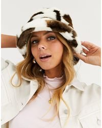 ASOS Faux Fur Bucket Hat - Multicolor