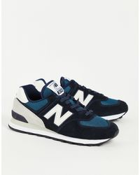 New Balance Черные/серые Кроссовки 574-черный Цвет