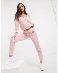 Juicy Couture - Розовые Велюровые Джоггеры -розовый - Lyst