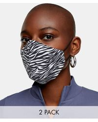 TOPSHOP 2 Pack Fashion Face Coverings - Multicolour
