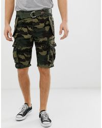 Superdry - Cargo Belted Short In Camo - Lyst
