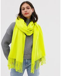 Monki Scarf In Lime Green