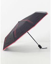 Karl Lagerfeld Paraguas rosa con detalle - Multicolor