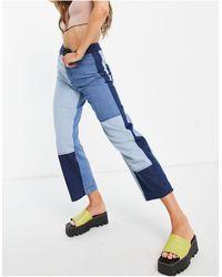 Whistles Jean d'ensemble effet patchwork - jean - Bleu
