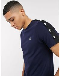 Lacoste Sport Lacoste - T-shirt blu navy con fettuccia sulle spalle