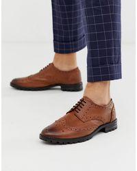 Redfoot Chaussures richelieu en cuir à semelles épaisses - Fauve - Marron