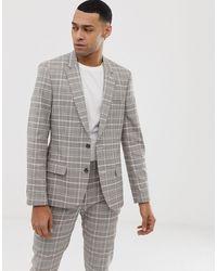ASOS Skinny Suit Jacket - Grey