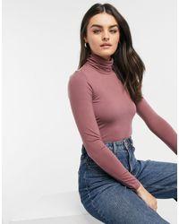 Vero Moda High Neck Bodysuit - Pink