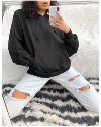 adidas Originals 'cosy Comfort' Oversized Hoodie - Black
