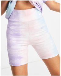 Chelsea Peers Organic Cotton Tie Dye legging Shorts - Multicolour