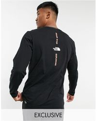 The North Face Vertical - T-shirt Met Lange Mouwen - Zwart