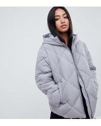 4772a7445 Asos Design Petite Ultimate Puffer - Gray