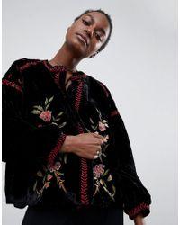 Raga - Rosie Posie Velour Embroidered Jacket - Lyst