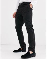 ASOS Skinny Tuxedo Suit Pants - Black