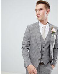 Burton Wedding Suit Jacket - Grey