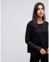 Blend She - Evy Long Sleeve Top - Lyst