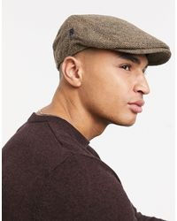 French Connection Winter Flat Cap - Brown