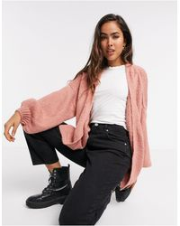 ASOS Cardigan oversize - sombre - Rose